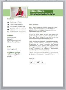 Administratorės motyvacinis laiškas