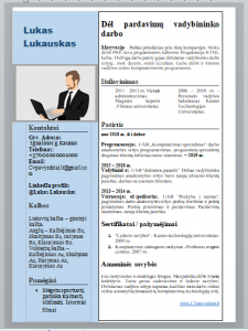 Pardavimų vadybininko CV